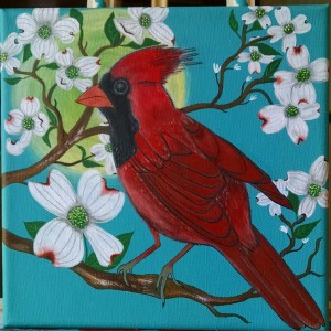 cardinal in dogwood